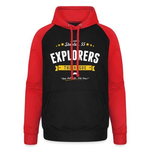 Explorershirt - Unisex baseball hoodie