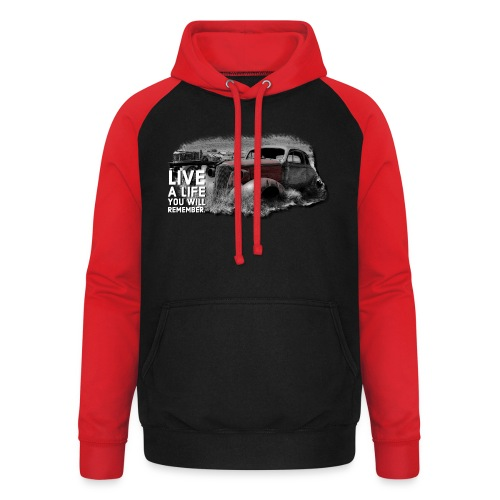 Live a life Oldtimer - Unisex Baseball Hoodie