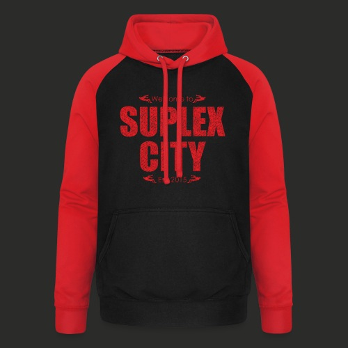 Suplex City Mens T-Shirt - Unisex Baseball Hoodie
