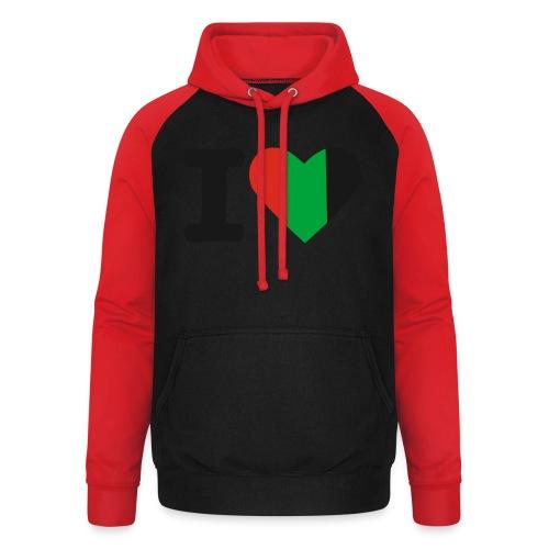 hartjeroodzwartgroen - Unisex baseball hoodie