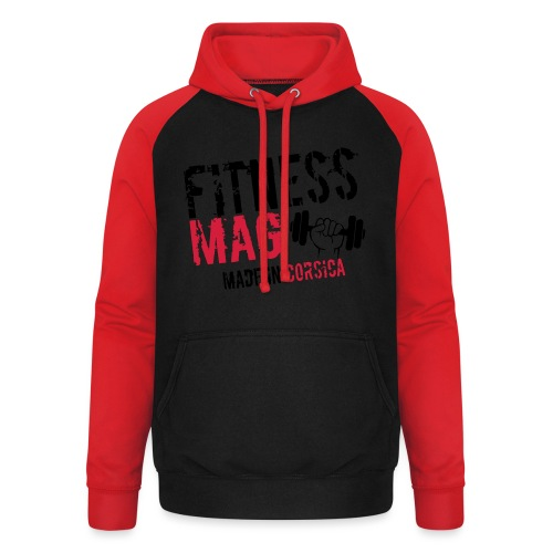 Fitness Mag made in corsica 100% Polyester - Sweat-shirt baseball unisexe