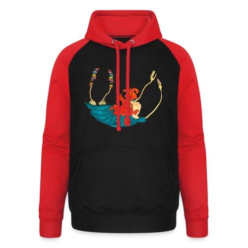 Frit fald - Unisex baseball hoodie