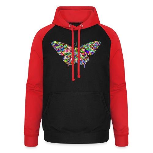 Geflogener Schmetterling - Unisex Baseball Hoodie