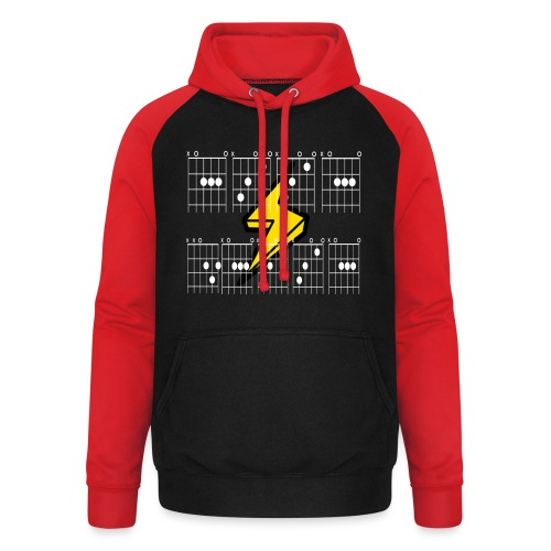ACCA DACCA in chords for those about to rock - Unisex Baseball Hoodie