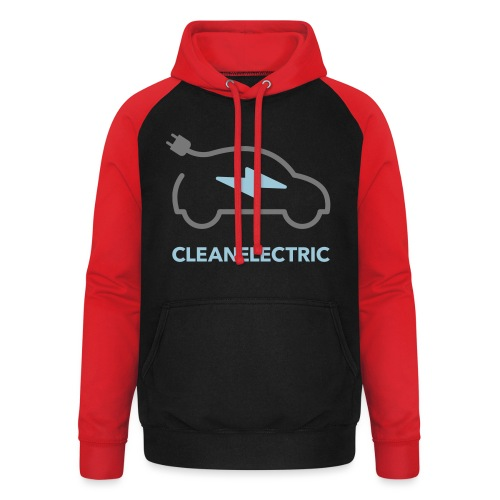 CLEANELECTRIC Logo - Unisex Baseball Hoodie
