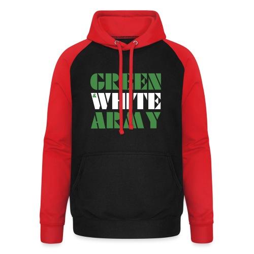 GREEN & WHITE ARMY - Unisex Baseball Hoodie