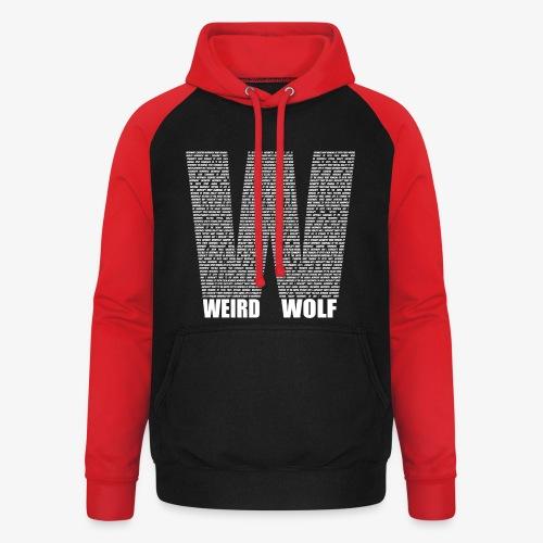 The Big W (White) - Unisex Baseball Hoodie