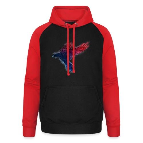Watercolor Raven - Unisex Baseball Hoodie