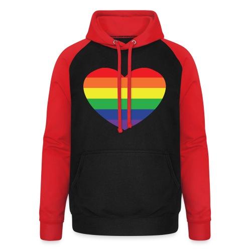Rainbow heart - Unisex Baseball Hoodie