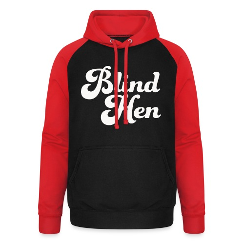 Blind Hen - Logo T-shirt, slim fit, black - Unisex Baseball Hoodie