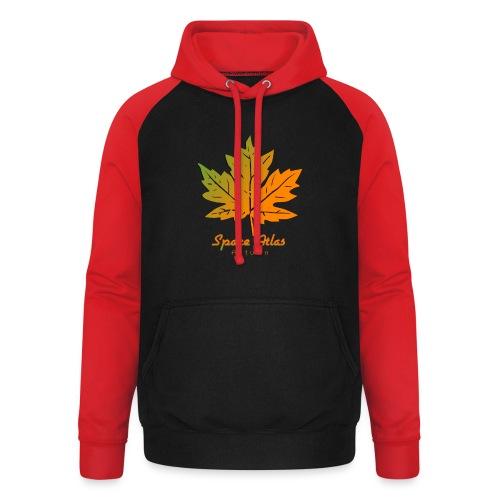 Space Atlas Long Sleeve T-shirt Autumn Leaves - Unisex baseball hoodie
