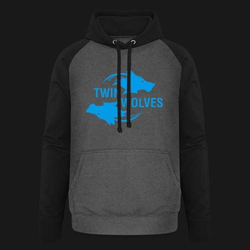 Twin Wolves Studio - Felpa da baseball con cappuccio unisex