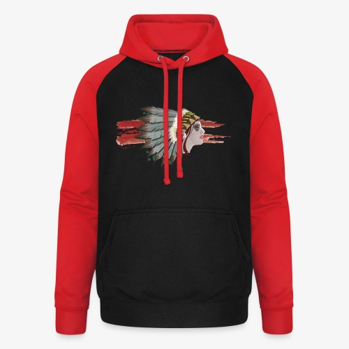 Native american - Sweat-shirt baseball unisexe