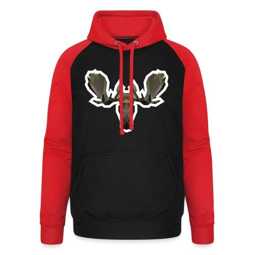 Low Poly Moosehead - Unisex baseball hoodie