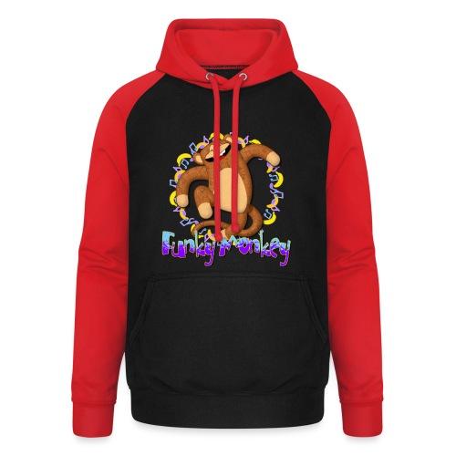 Funky Monkey - Felpa da baseball con cappuccio unisex