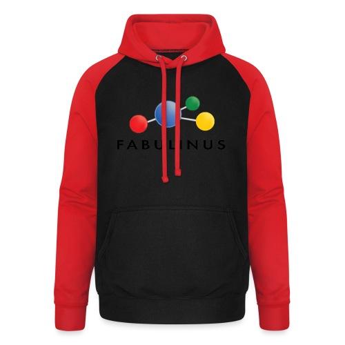 Fabulinus Zwart - Unisex baseball hoodie