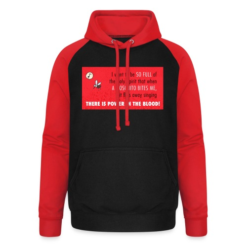 Thers power in the blood - Unisex Baseball Hoodie