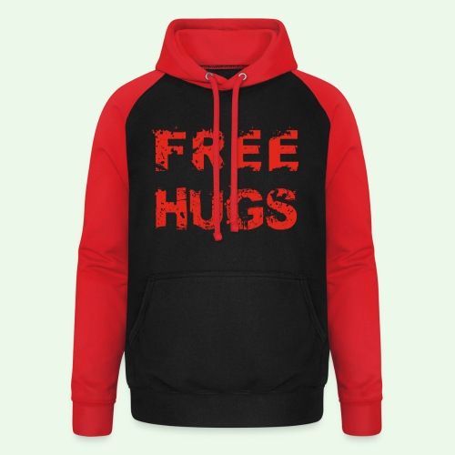 Free Hugs // Flirten // T-Shirt - Unisex Baseball Hoodie