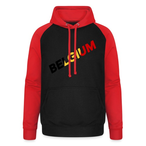 BELGIUM - Sweat-shirt baseball unisexe
