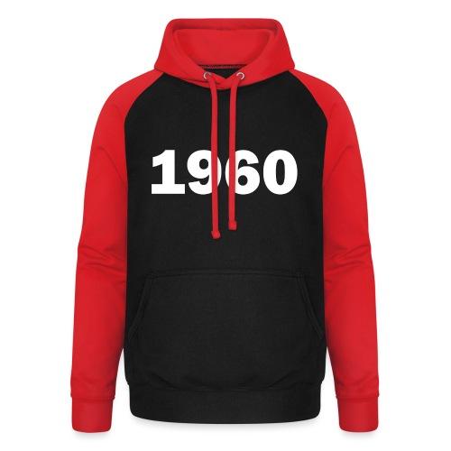 1960 - Unisex Baseball Hoodie