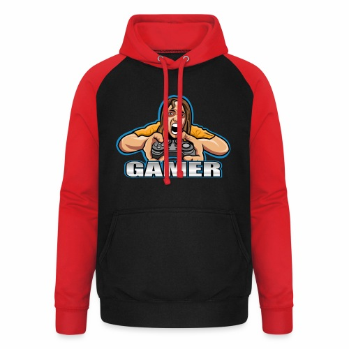 Gamer - Sudadera con capucha de béisbol unisex