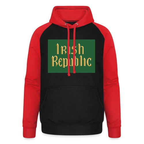 Original Irish Republic Flag - Unisex Baseball Hoodie