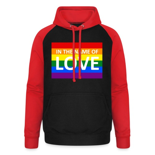 IN THE NAME OF LOVE RETRO T-SHIRT - Unisex baseball hoodie