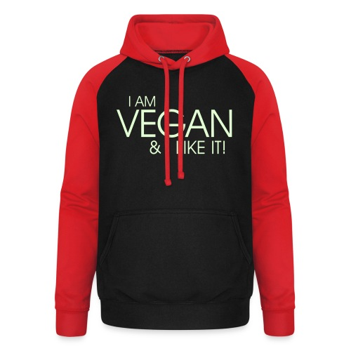 I am vegan and I like it - Unisex Baseball Hoodie