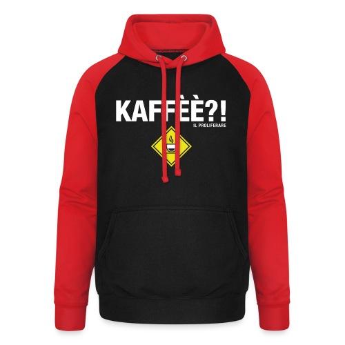KAFFÈÈ?! by Il Proliferare - Felpa da baseball con cappuccio unisex