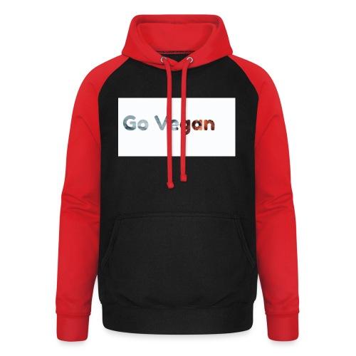 Go Vegan - motif Animal - Sweat-shirt baseball unisexe