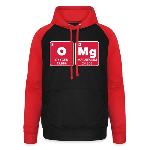periodic table omg oxygen magnesium Oh mein Gott - Unisex Baseball Hoodie