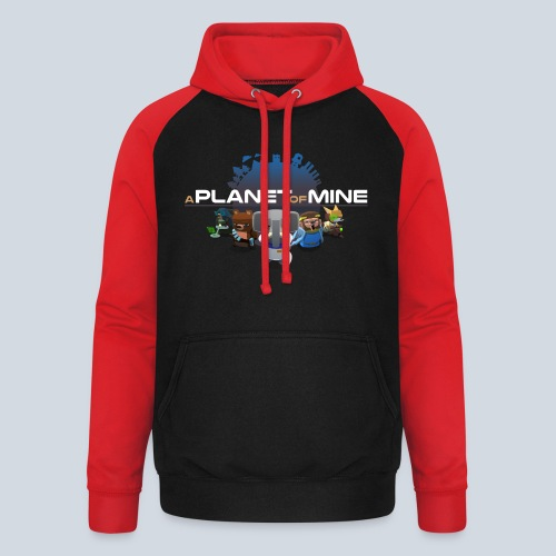 logo planetofmine dark HD - Sweat-shirt baseball unisexe