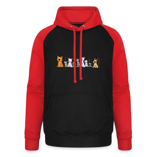 Cats & Cats - Unisex baseball hoodie