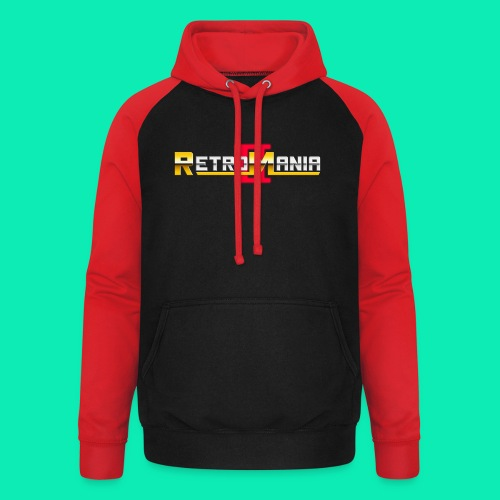 Retro Mania II - Logo - Unisex Baseball Hoodie