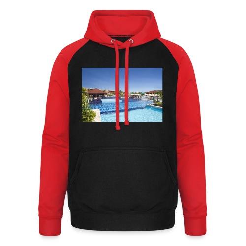 splendide piscine - Sweat-shirt baseball unisexe