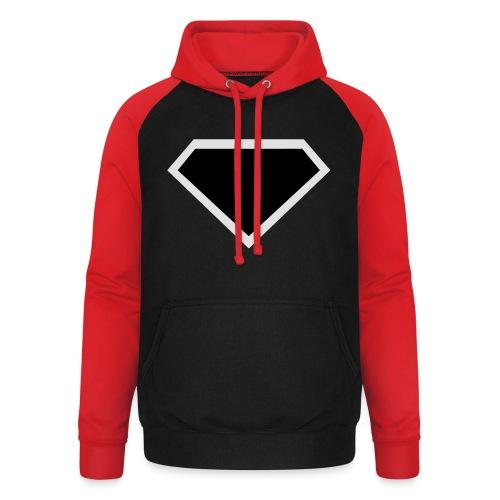 Diamond Black - Two colors customizable - Unisex baseball hoodie
