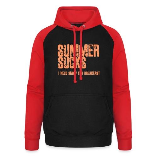 SUMMER SUCKS - Unisex baseball hoodie