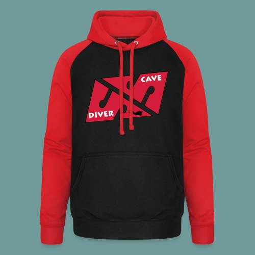 cave_diver_01 - Sweat-shirt baseball unisexe