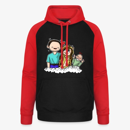 *Limited Edition* Esmee ❤️ Teun (Boze vader) - Unisex baseball hoodie
