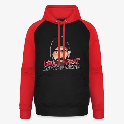 DJ flipout Red to black - Sweat-shirt baseball unisexe