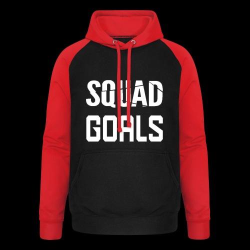 squad goals - Unisex baseball hoodie