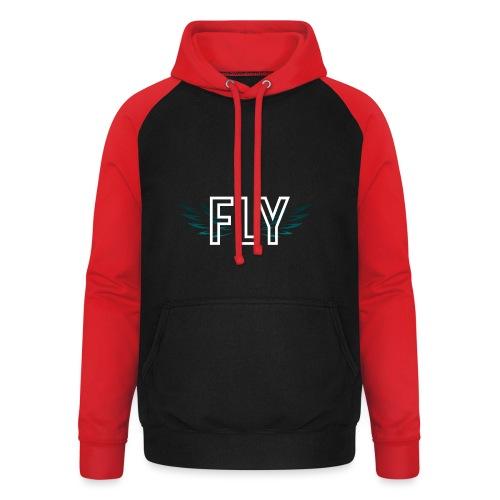 Wings Fly Design - Unisex Baseball Hoodie