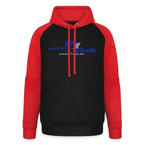 R1club Logo blau - Unisex Baseball Hoodie