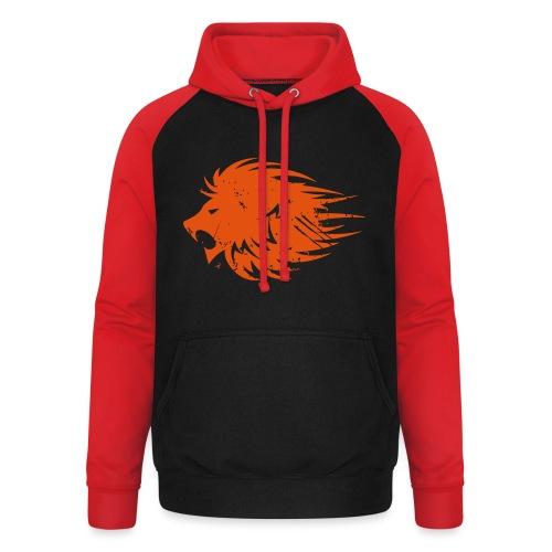 MWB Print Lion Orange - Unisex Baseball Hoodie