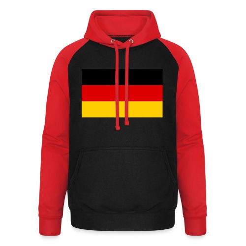 2000px Flag of Germany svg - Unisex Baseball Hoodie