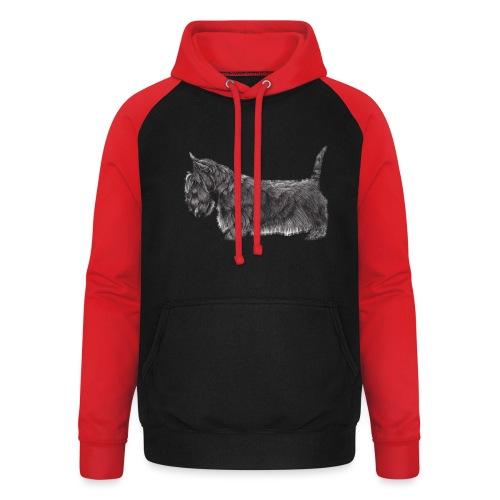 skotsk terrier ub - Unisex baseball hoodie