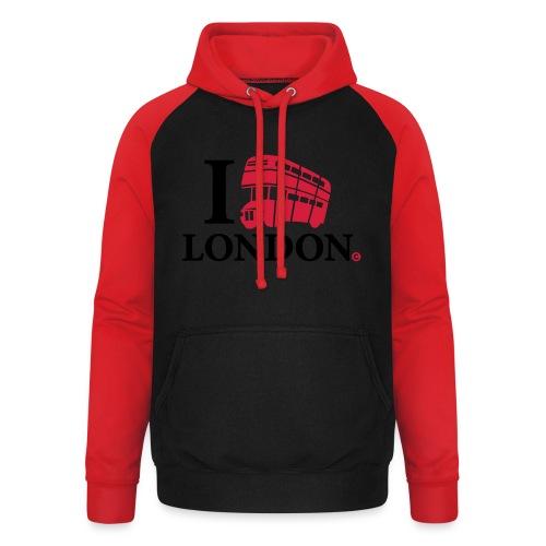 I love (Double-decker bus) London - Unisex Baseball Hoodie