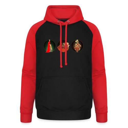 Pinup your Life - Xarah as Pinup 3 in 1 - Unisex Baseball Hoodie