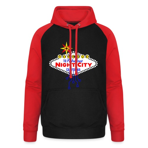 Welcome to fabulous Night City Cyber Punk 2077 - Unisex Baseball Hoodie