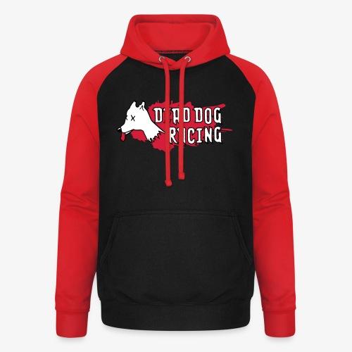 Dead dog racing logo - Unisex Baseball Hoodie